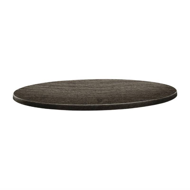 Topalit Classic Line Runde Tischplatte Holz 80cm
